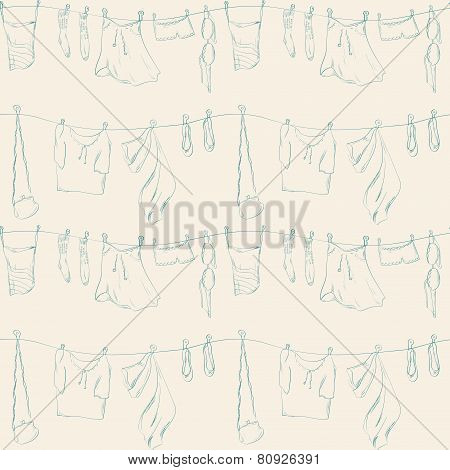 Seamless Pattern With Clothers.