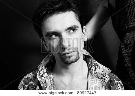 Portrait Of Young Brunette Man