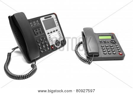 Two Office Phone Isolated