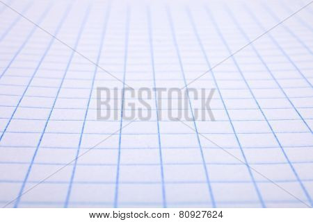 Background With Checkered A Blank Sheet
