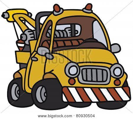 Funny breakdown service vehicle