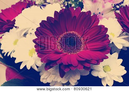bouquet with daisies and gerberas