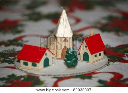 Winter Scene With Christmas Tree
