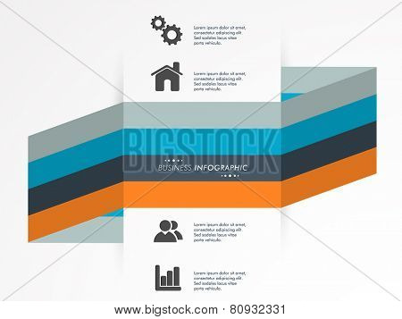 Creative infographics layout with web and social media icons for business purpose on stylish grey background.