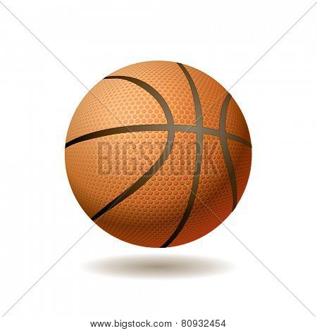 vector realistic illustration of the basketball ball