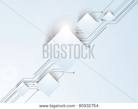 Creative hi-tech background for business purpose on gradient background.