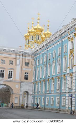 Catherine Palace In Tsarskoye Selo.