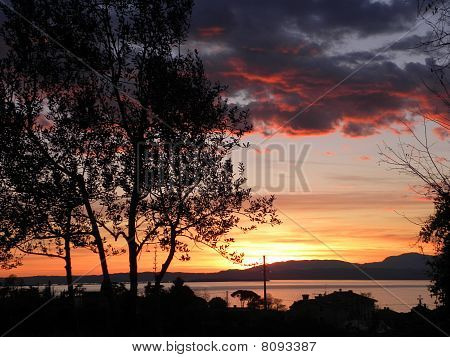 Sunset Twilight in Lazise, Garda Lake