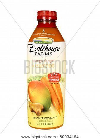 Bottle Of Bolthouse Farms Mango Ginger & Carrot Juice