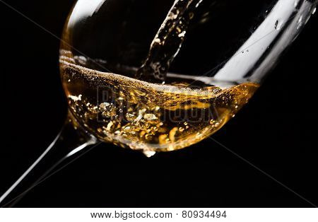 White Wine  On Black