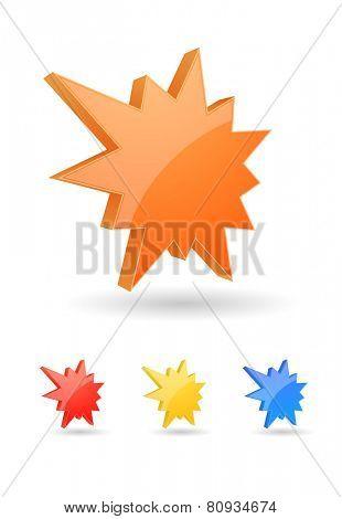 starburst splash icon 3d design