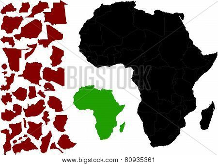 Political Map of Africa vector