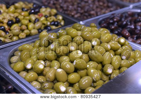 Green olives with cheese