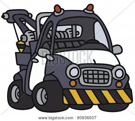 Funny breakdown service car