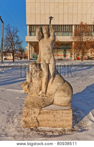 Sculpture The Birth Of A New Era. Moscow, Russia