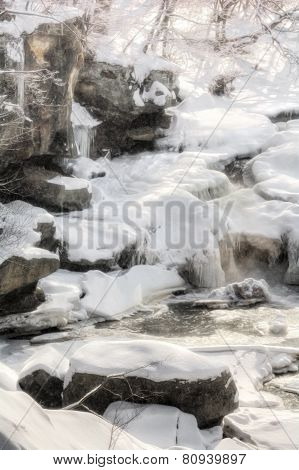 Berea Falls In Winter