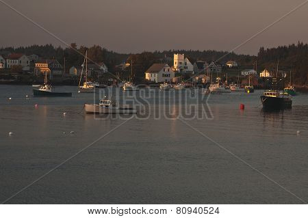Dusk on Cutler Harbor, Maine