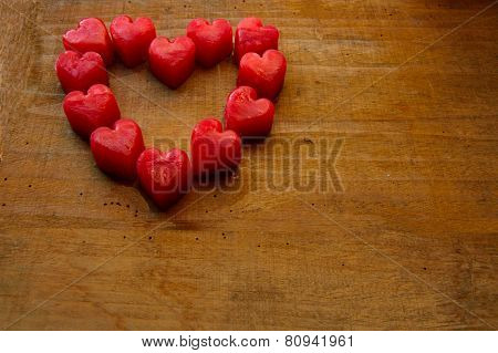 Heart - ice cubes