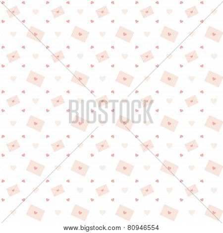 Love letter seamless pattern