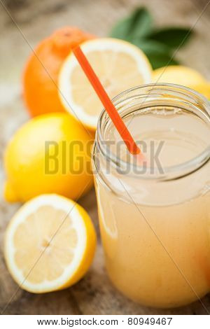 Healthy Drink Made Of  Lemon, Cinnamon, Ginger And Honey