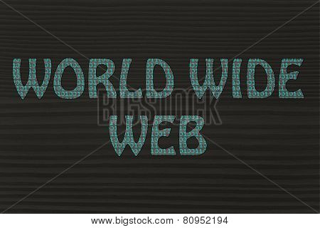 World Wide Web Writing With Binary Code Pattern
