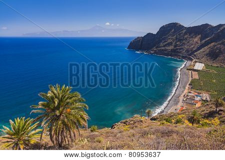 Beautiful beach in La Gomera island - Canary Spain