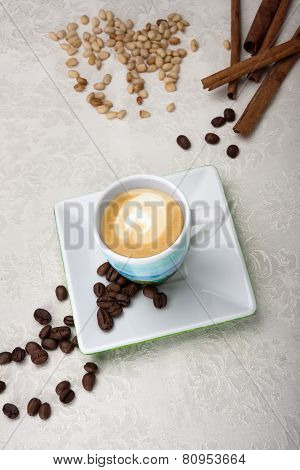 The Cup Of Cappuccino Coffee