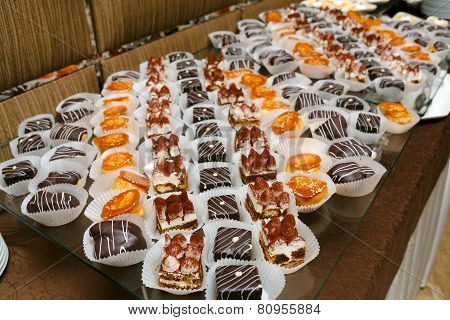 Catering - Served Table With Tiramisu And Other Desserts