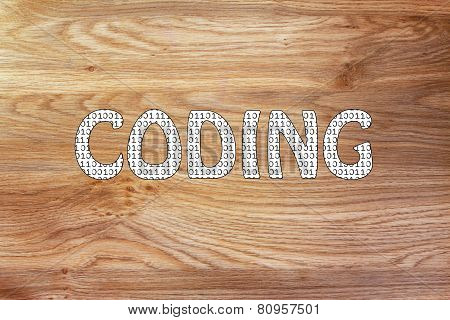 Coding Writing With Binary Code Pattern