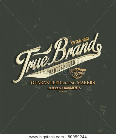 vintage typography for apparel 2
