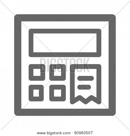 Cash register web icon