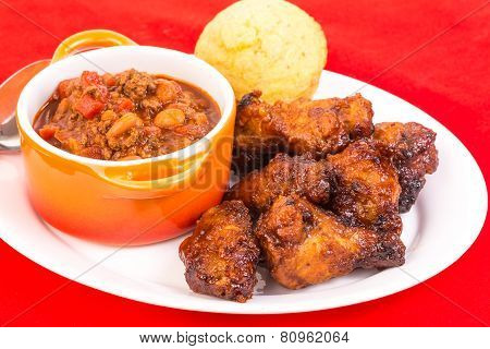 Chicken Wings And Chili