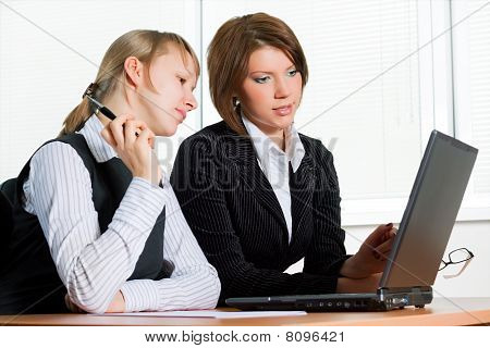 Two Young Businesswomen.
