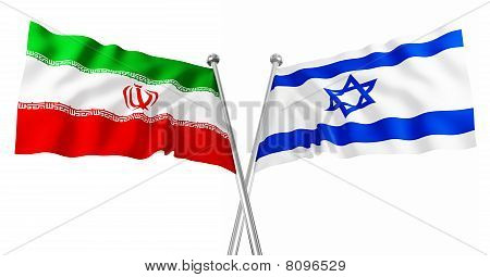 Israel And Iran Flag