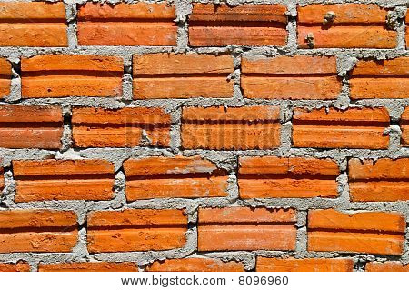 Brick At Wall Building