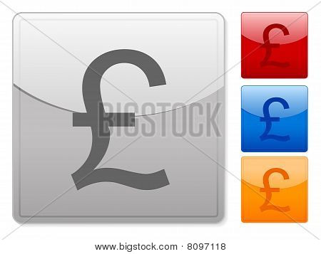 Square Web Buttons British Pound