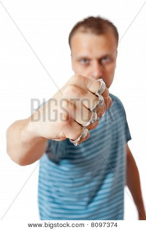 Man With Brass Knuckles