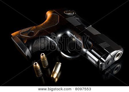 Backlit Handgun