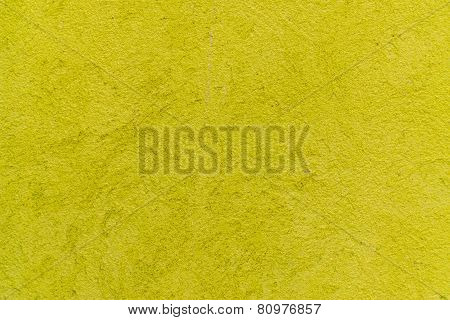 Yellow Green Cement Sidewalk