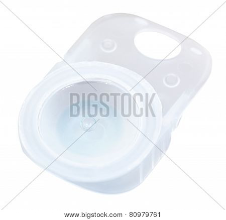 Plastic Container With Liquid And Corrective Lens