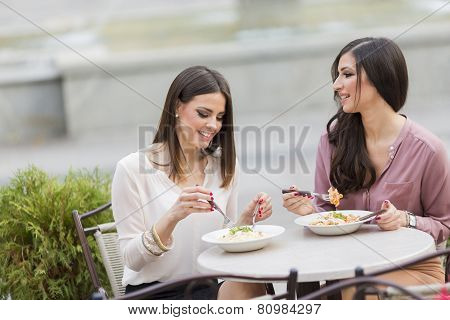 Young Women In Restaurant