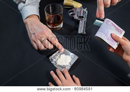 Buying drugs from dealers