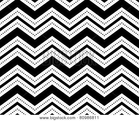 Illustration of seamless black-and-white geometric pattern