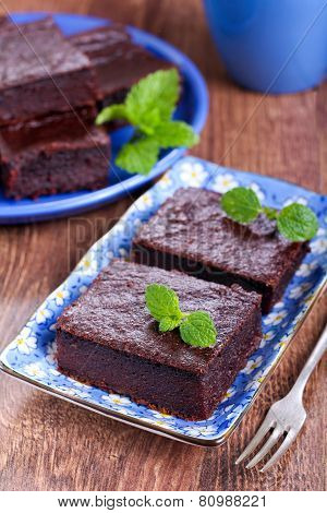 Chocolate And Pumpkin Brownie