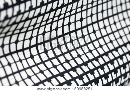 Retro Geometric Textile Black And White Pattern