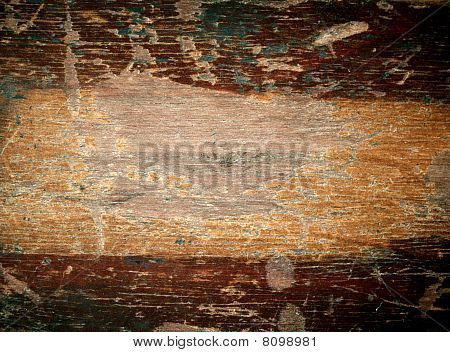 Texture Of Old Varnish Wood With Space For Text.