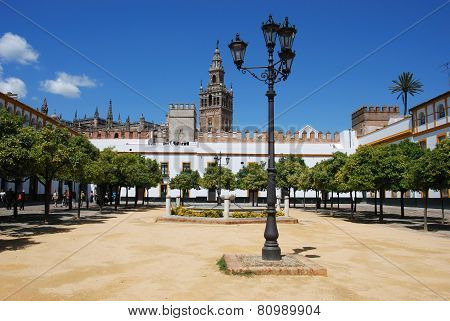 Giralda tower square, Seville.