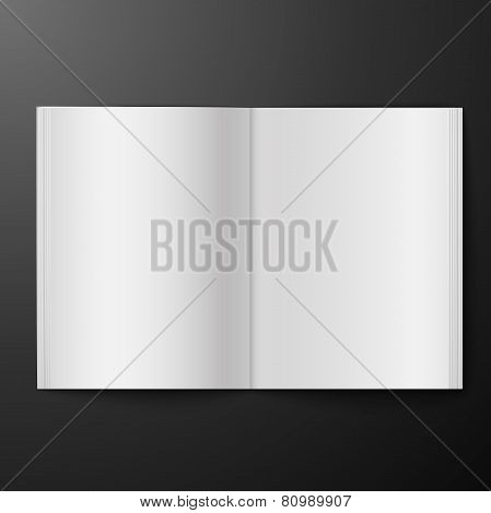 magazine blank on black background