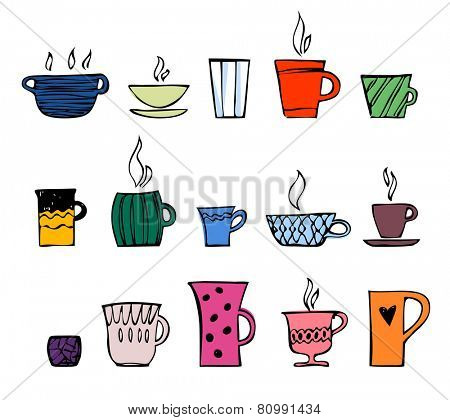 color cup of tea or coffee