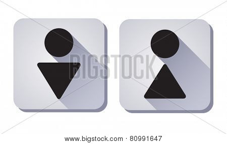 WC Sign. symbol of man and woman. eps8